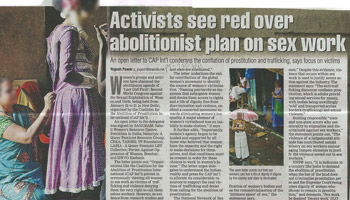 activists see red over news
